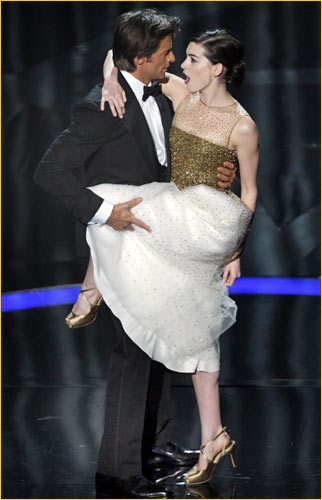 anne hathaway oscars hugh jackman. Hugh Jackman and Anne Hathaway