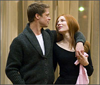 Brad Pitt and Cate Blanchett in a scene from The Curious Case of Benjamin Button