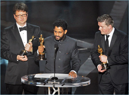 Resul Pookutty at the Oscars