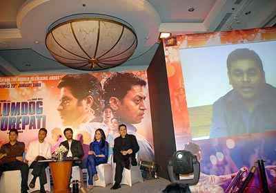 Anil Kapoor, Irrfan Khan and A R Rahman