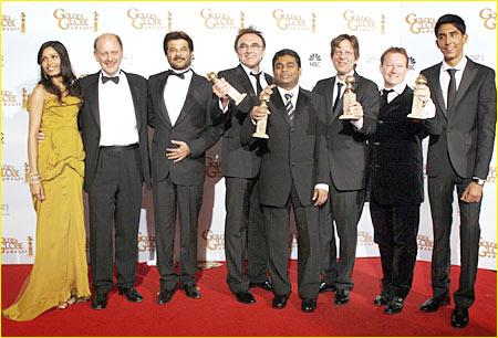 The Slumdog Millionaire team