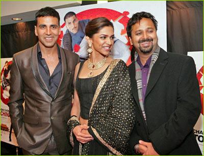 Akshay Kumar, Deepika Padukone and Nikhil Advani
