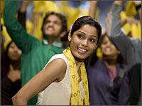 Frieda Pinto in a scene from Slumdog Millionaire