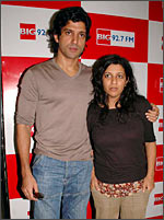 Farhan Akhtar with Zoya