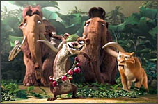 A scene from Ice Age 3