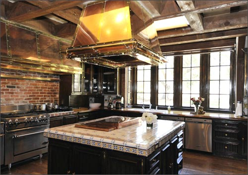 A general view of the kitchen in the main house that was once used by Michael Jackson