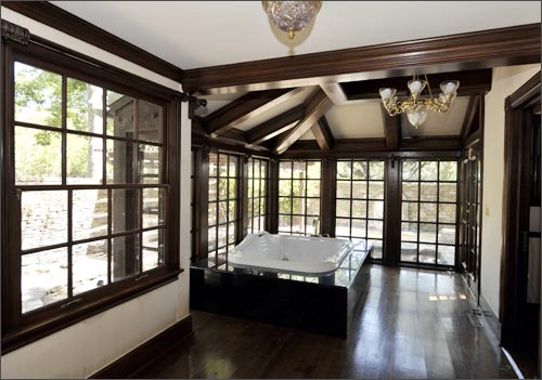 A general view of the master bathroom used by Michael Jackson in the main house