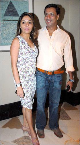 Madhur Bhandarkar and wife Renu