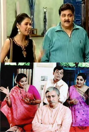 Scenes from Khichdi and Sarabhai v/s Sarabhai