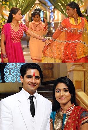 Scenes from Sapna Babul Ka Bidaai and Yeh Ristha Kya Kehlata Ha