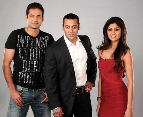 Shilpa Shetty, Salman Khan and Irfan Pathan