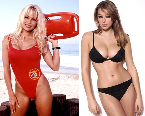 Pamela Anderson and Keeley Hazell