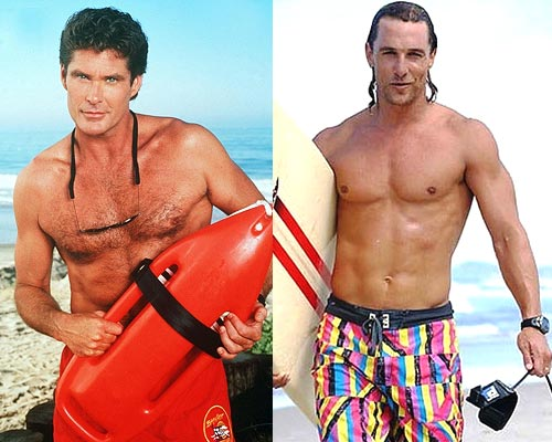 David Hasselhoff and Matthew McConnaughey
