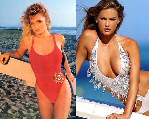 Erika Eleniak and Bar Rafaeli