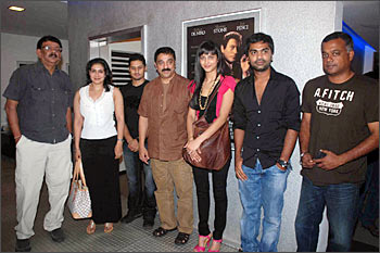 Priyadarshan, wife Lisy, director Soham, Kamal Haasan, Shruti, actor Silambarasan and director Gautham Menon