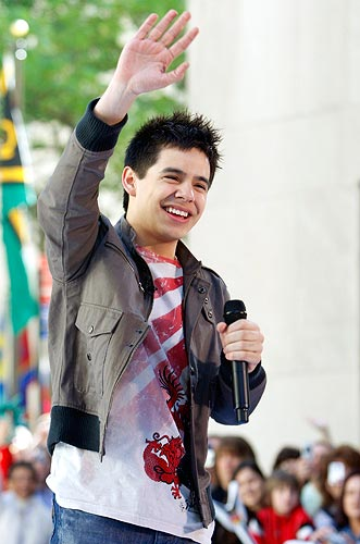 David Archuleta performs on NBC's <I>Today</I> show in New York