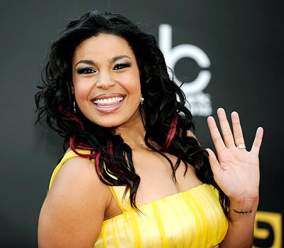 Jordin Sparks arrives at the 2008 American Music Awards