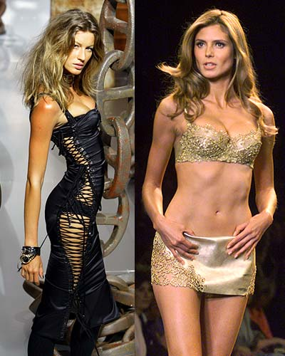 Gisele Bundchen and Heidi Klum