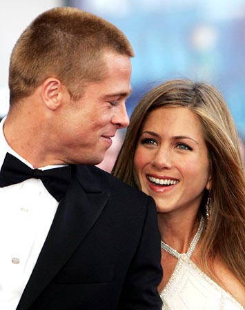 Brad Pitt and Jennifer Aniston during happier times