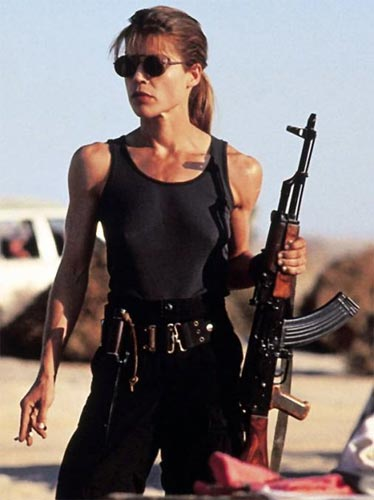 Linda Hamilton in a scene from <I>Terminator: Resurrection</I>