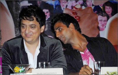 Sajid Nadiadwala and Akshay Kumar