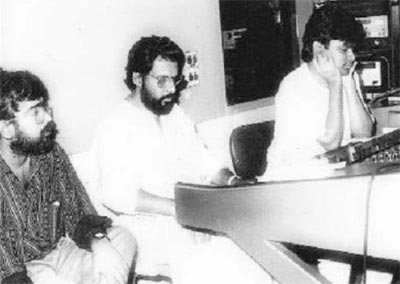 A R Rahman recording with K J Yesudas