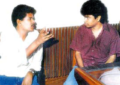 A R Rahman with director Shankar