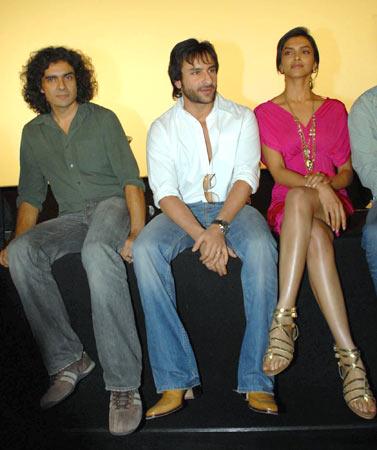 Imtiaz Ali, Saif Ali Khan and Deepika Padukone