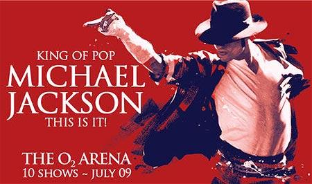 A poster announcing Michael Jackson's concert