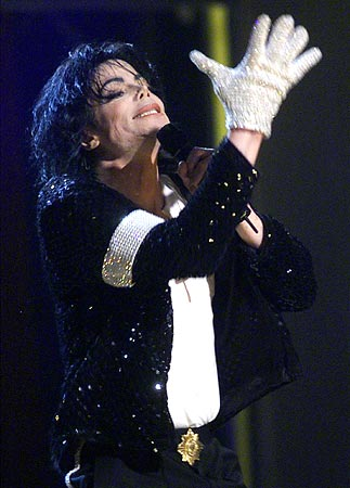 Michael Jackson performs in New York