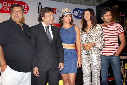 David Dhawan, Govinda, Sushmita Sen, Lara Dutta and Reteish Deshmukh