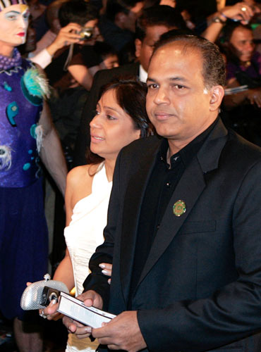 Ashutosh Gowarikar and his wife Sunita