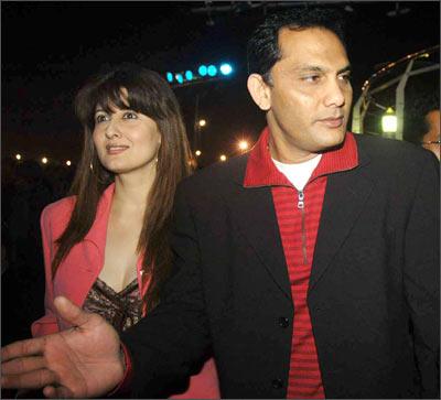Sangeeta Bijlani and Mohammed Azharuddin