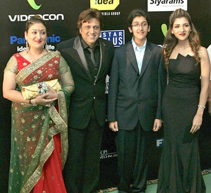Govinda with family