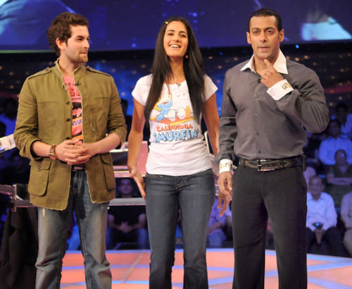 Neil Nitin Mukesh, Katrina Kaif and Salman Khan
