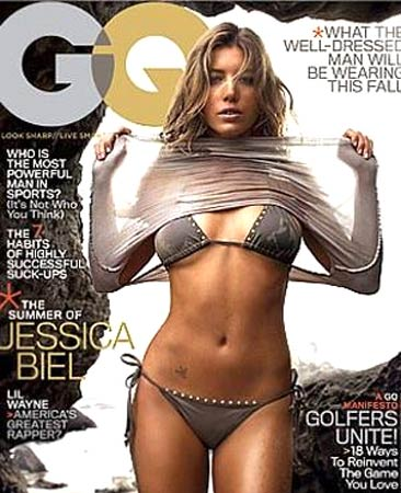 Jessica Biel on the cover of GQ