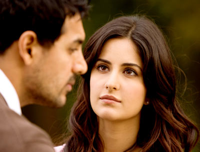 Katrina Kaif and John Abraham in a scene from New York