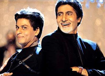 SRK and Amitabh Bachchan in Kabhi Kushi Kabhi Gham