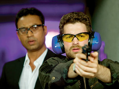 Neil Nitin Mukesh and Irrfan Khan in a scene from New York