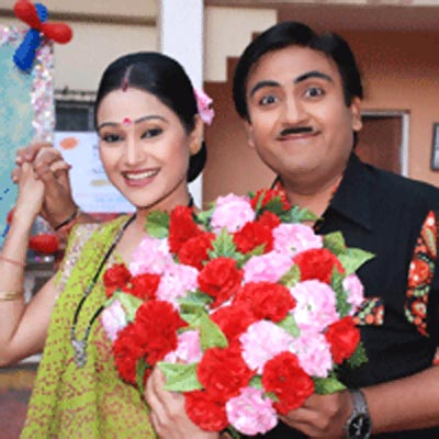 Disha Wakani and Dilip Joshi