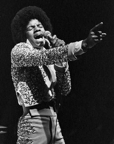 Michael Jackson performs as lead singer of the Jackson Five in a file photo during a performance at the Mill Run Playhouse in a June of 1974 file photograph