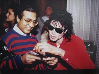 Reader Nazir Patel with Michael Jackson