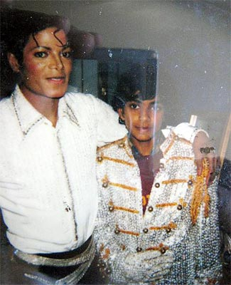 Reader Arif Patel with Michael Jackson