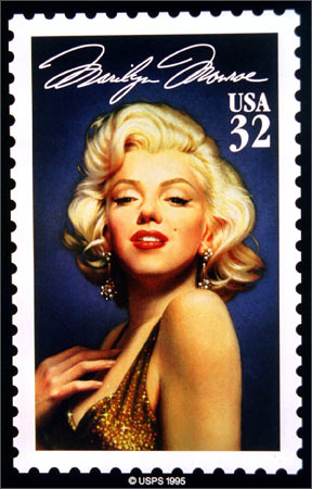 The new US postage stamp commerating actress Marilyn Monroe, was unveiled in New York