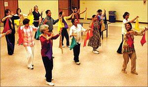 Dancer do the Jai Ho routine