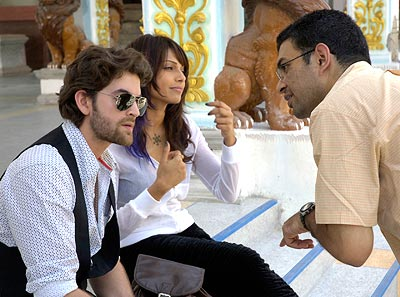 On the sets of Aa Dekhen Zara with Neil Nitin Mukesh, Bipasha Basu and director Jehangir Surti
