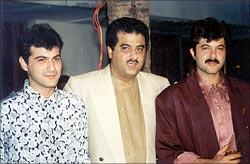 Sanjay, Boney and Anil Kapoor
