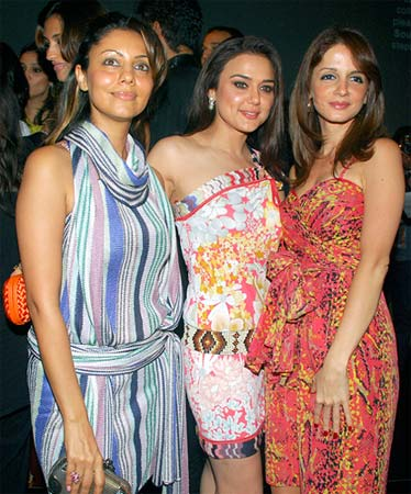 Gauri Khan, Preity Zinta and Susanne Roshan