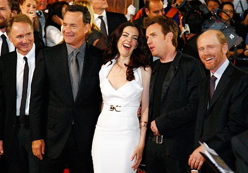 From left: Dan Brown, Tom Hanks, Ayelet Zurer, Ewan McGregor and Ron Howard.