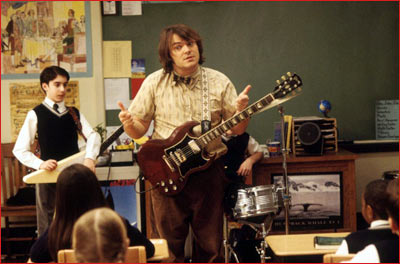 A scene from School of Rock